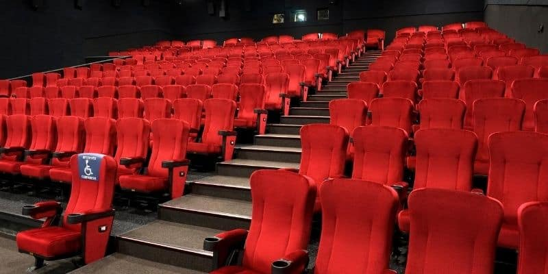 Wheelchair companion seat in cinemas