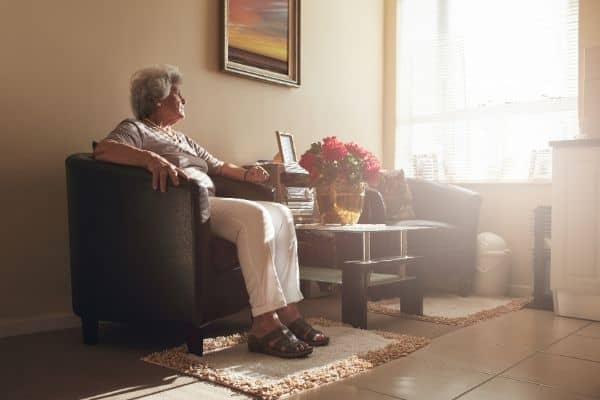 Elderly alone at home